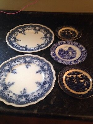 Selection Of Blue And White Plates