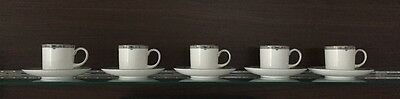 Wedgwood Amherst Coffee Can & Saucer. Set of 5. Excellent Condition.