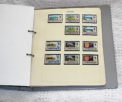 Stamp Collection From Jersey In Ring Binder