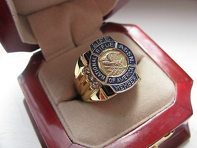 """NEW! Gents """"NRA Life Member"""" CREST Ring *"""