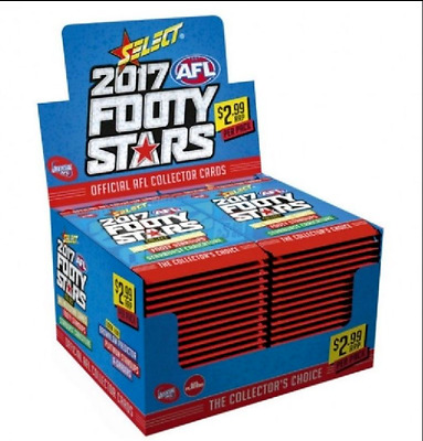 Lot Of 15 New Sealed Packs Of 2017 Afl Select Footy Stars Football Cards