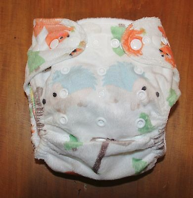Reusable Modern Cloth Nappy Multi Fit Newborn Toddler Baby Bare Woodland NEW