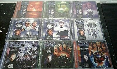 DOCTOR DR WHO : 9 Audio book CD disc sets : #'s 130 thru 138 in series