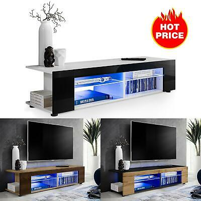 TV Stand Cabinet LED Shelf Entertainment Console Media Center Furniture Modern