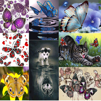 5D Butterfly Diamond Embroidery Painting Cross Stitch DIY Home Decor Gifts