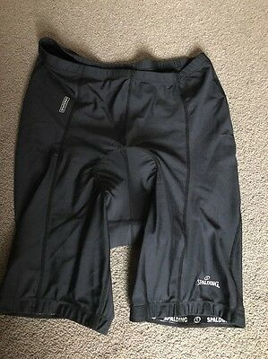 Spalding Black Padded Cycling Shorts Size XXL