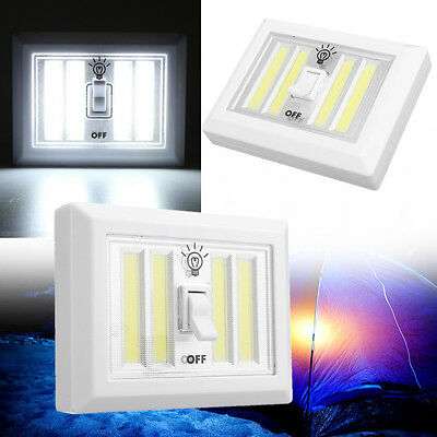 Wireless COB LED Closet Night Light Lamp Switch with Magnetic Battery Powered