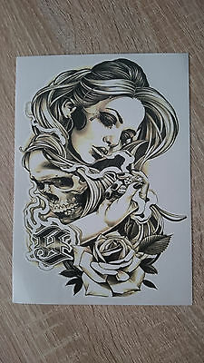 21x15cm Sheet-High-Quality-Fake-Tatto-Party-Sexy-Girl-Rose-Waterproof-Tempora