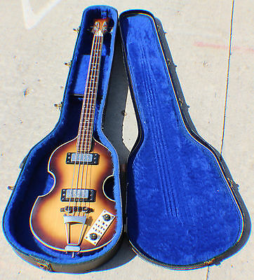 Vintage Beatles Style Bass Guitar - Made in Japan