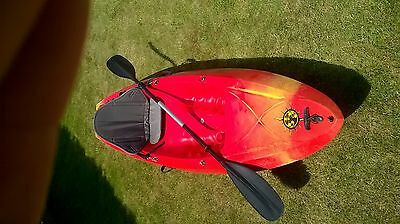 Sit On Top Kayak, Excellent Condition, With Paddle And Seat / Back Rest.