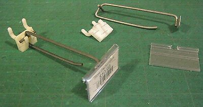 "Pegboard 4"" Scanner Hooks with Plastic Price 2 1/2"" QTY 100"
