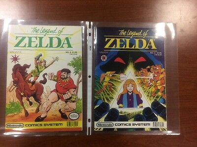 Vintage 1990 The Legend Of Zelda Valiant Nintendo Comics # 2 & 3