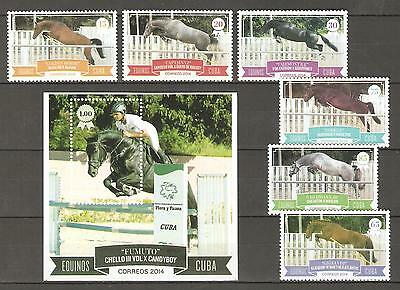Cubba 2014 animals horses set+set MNH