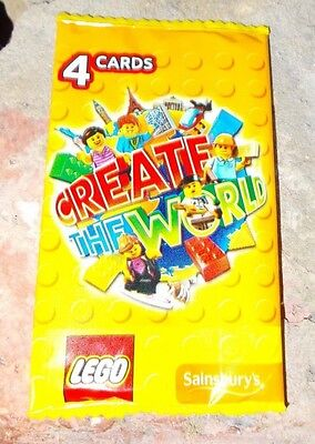 1 RARE PACK CREATE THE WORLD Lego Sainsbury's (Unopened) ONE CARD INSIDE !!!