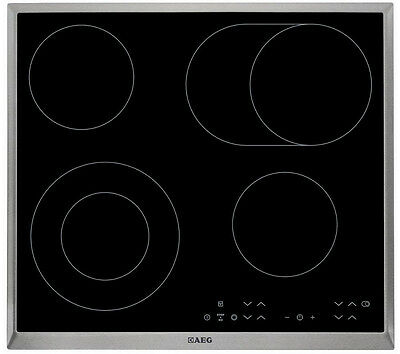 AEG HK634060XB Built-in S/Steel Touch Control 4 Burner 60cm Electric Ceramic Hob