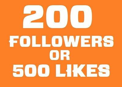 200 Instagram-Followers or 500 Post-Likes | Ultra Quality Safe | official-t.o