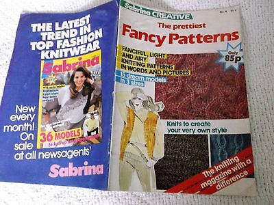 VINTAGE, 1980's, SABRINA, 'CREATIVE ', No. 4, 'THE PRETTIEST FANCY PATTERNS'.