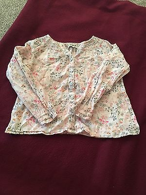 Beautiful top pink floral pink spring summer girls Next blouse 2-3 years
