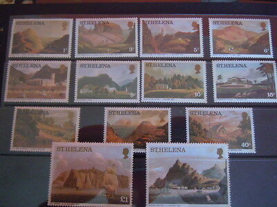 St Helena-Full Mint Set -1977 Lithographs-Values To £2.
