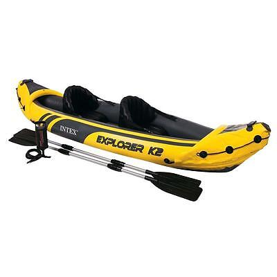Kayak seatpost canoeing inflatable Intex Explorer K2 with remi for sea fiume