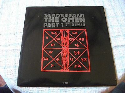 """The Mysterious Art 7"""" The Omen Part 1 7"""" Remix UK PS 1989"""