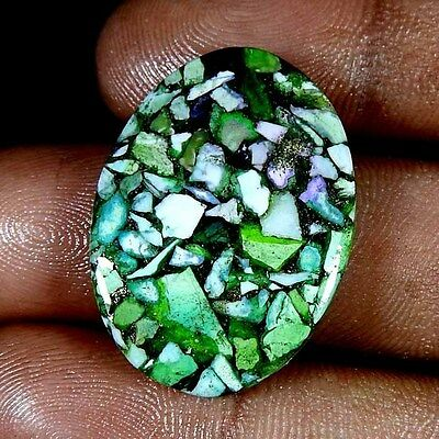 15.80Ct Green  Blue Copper Turquoise Oval Cabochon Loose Gemstone