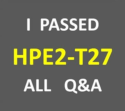 I Passed - HPE Synergy Solutions - Test HP2-T27 - HPE2-T27 Exam Q&A PDF