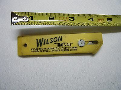 "Vintage Wilson Distillery Whiskey Advertising box cutter,  ""That's All"""