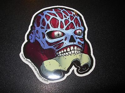 "THEY LIVE  Sticker 3X2.5"" STORMTROOPER Skateboard poster print timothy anderson"