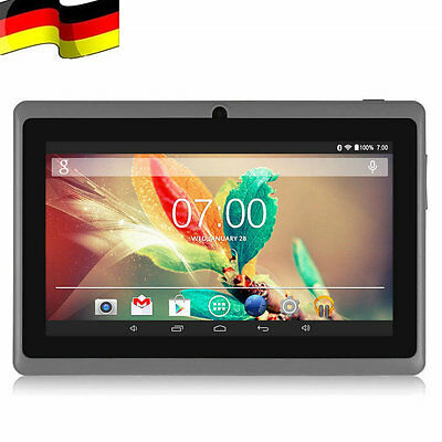 7 Zoll 16GB Quad Core Dual Kamera Android Touchscreen WIFI Tablet PC Pad Schwarz
