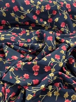 Polyester Floral  Print Dress Fabric width approx 142cm