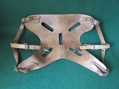 Sea fishing rod harness Vintage leather brass Big Game shark tope conger wreck