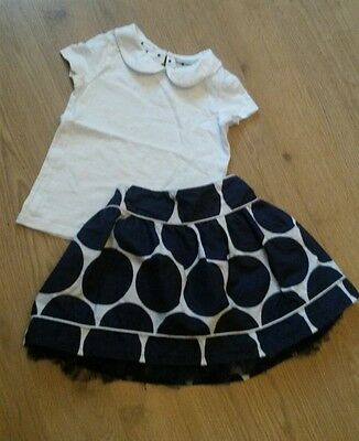 Next Girls Pretty Summer Outfit Skirt And Top 2-3 Years