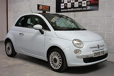 2010 Fiat 500 1.2 LOUNGE Manual Petrol 3 Door Hatchback in Blue