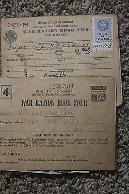 Vintage War Ration Book Lot of Two Book 2 and 4