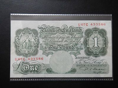 Bank Of England £1 Banknote - Britannia Issue (1950)