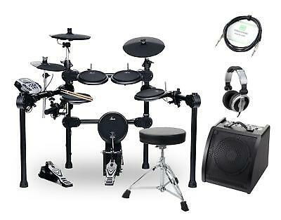 Kit de Batterie Electronique Drum Set E-Drum Percussion Module Tabouret Moniteur