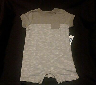 New Old Navy Gray striped one piece Baby Boy 6-12 month