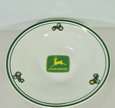 "JOHN DEERE 9"" Cereal or Soup Bowl Gibson Licensed Product Check out the photos!"