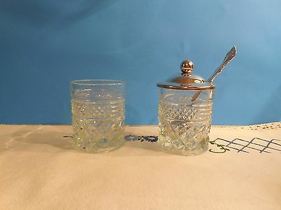 """Wexford 2 1/2"""" Condiment Jar with Silverplated Lid and Spoon + Condiment Jar"""