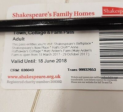 Shakespeare town cottage & farm 5 house & home pass ticket, Stratford upon Avon