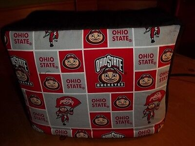 Toaster Cover Ohio State Buckeyes Fabric Quilted Sewn 4 Slice