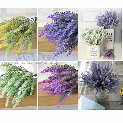 1pcs Artificial Flowers Silk Fake Lavender Floral Bouquet Party Home Decor