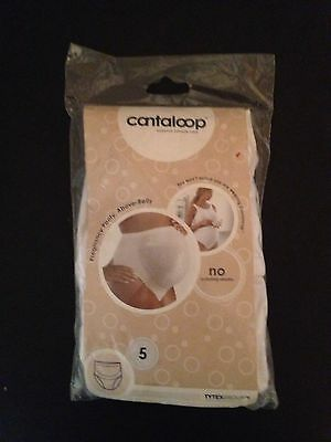 Cantaloop Size 5 White OVER the Belly Pregnancy Maternity/After Pregnancy Panty