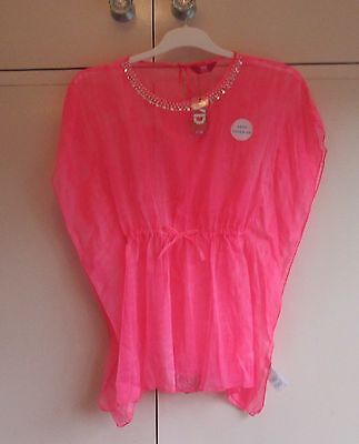 GIRLS PINK BEACH KAFTAN/COVER UP AGE 11-12 ~ 12-13 YEARS BNWT PRIMARK swimwear