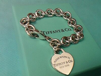 Return to Tiffany Heart  Tag Bracelet Sterling Silver 100% Genuine