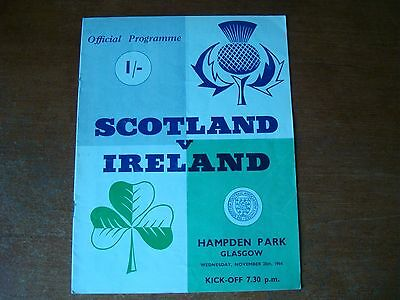 Scotland V Ireland Nov 1964