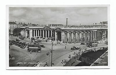 Dublin, Bank of Ireland Valentine's RP Postcard c.1940's Unposted 117A