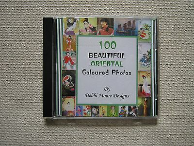 Debbi Moore Designs 100 Beautiful Oriental Coloured Photos Crafting CD Rom