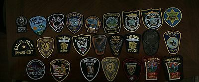 ***25 Various Local And State Police Patches Look***